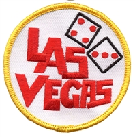 LAS VEGAS dice souvenir embroidered patch