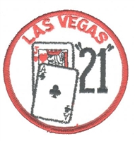 5255 - LAS VEGAS 21 blackjack souvenir embroidered patch