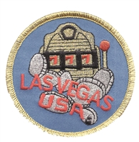 5258 - LAS VEGAS USA slot machine coins souvenir embroidered patch