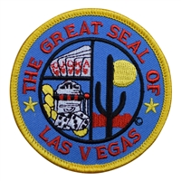 THE GREAT SEAL OF LAS VEGAS souvenir embroidered patch
