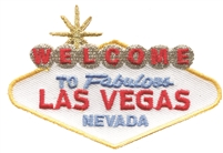 5281 - WELCOME TO FABULOUS LAS VEGAS sign souvenir embroidered patch