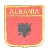 5980 - ALBANIA medium flag shield souvenir embroidered patch