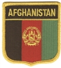 5991 - AFGHANISTAN medium flag shield souvenir embroidered patch