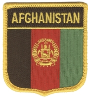 AFGHANISTAN medium flag shield souvenir embroidered patch