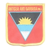 6001 - ANTIGUA AND BARBUDA W.I. medium flag shield souvenir embroidered patch