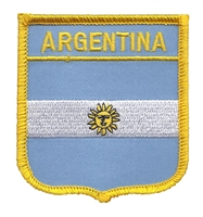 6011 - ARGENTINA medium flag shield souvenir embroidered patch