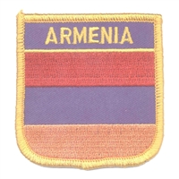 6021 - ARMENIA medium flag shield souvenir embroidered patch