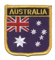 6041 - AUSTRALIA medium flag shield souvenir embroidered patch