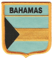 BAHAMAS medium flag shield souvenir embroidered patch