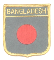 BANGLADESH medium flag shield souvenir embroidered patch