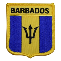 BARBADOS medium flag shield souvenir embroidered patch