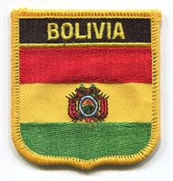 BOLIVIA flag shield embroidered patch
