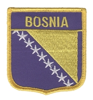 6096 - BOSNIA flag shield souvenir embroidered patch
