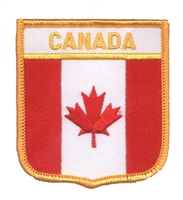 6111 - CANADA medium flag shield uniform or souvenir embroidered patch