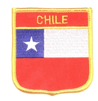 6121 - CHILE medium flag shield souvenir embroidered patch