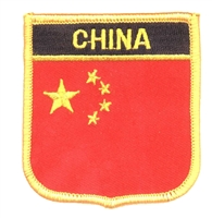 6131 - CHINA medium flag shield souvenir embroidered patch