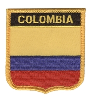 COLUMBIA medium flag shield souvenir embroidered patch