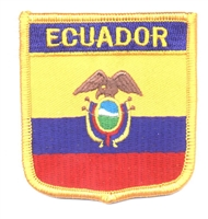 6191 - ECUADOR medium flag shield souvenir embroidered patch