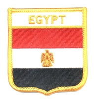 6201 - EGYPT medium flag shield souvenir embroidered patch