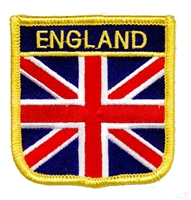 ENGLAND medium flag shield souvenir embroidered patch