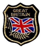 6222 - GREAT BRITAIN mylar shield souvenir embroidered patch