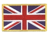 GREAT BRITAIN Union Jack flag gold border souvenir embroidered patch