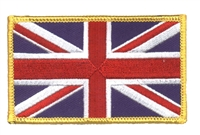 6224-G - GREAT BRITAIN flag gold border souvenir embroidered patch