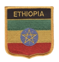 6231 - ETHIOPIA medium flag shield souvenir embroidered patch