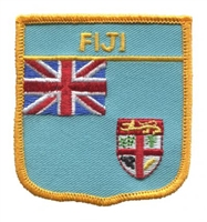 6241 - FIJI medium flag shield souvenir embroidered patch