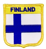 6251 - FINLAND medium flag shield souvenir embroidered patch