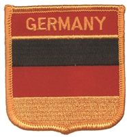GERMANY medium flag shield souvenir embroidered patch