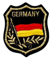 GERMANY mylar flag shield souvenir embroidered patch