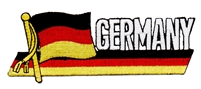 GERMANY wavy flag ribbon souvenir embroidered patch