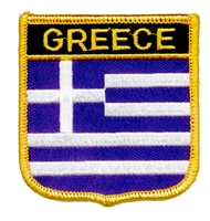 6281 - GREECE medium flag shield - souvenir embroidered patch