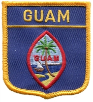 6291 - GUAM medium flag shield souvenir embroidered patch