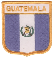 6301 - GUATEMALA medium flag shield souvenir embroidered patch