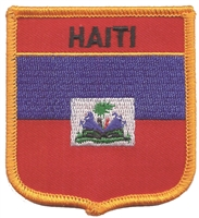 6311 - HAITI medium flag shield souvenir embroidered patch