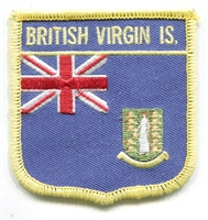 6321 - BRITISH VIRGIN IS. Medium flag shield souvenir embroidered patch