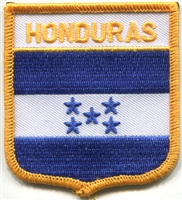 6331 - HONDURAS medium flag shield souvenir embroidered patch
