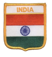 INDIA medium flag shield souvenir embroidered patch