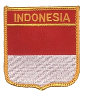6371 - INDONESIA medium flag shield souvenir embroidered patch