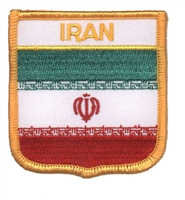 6381 - IRAN medium flag shield souvenir embroidered patch