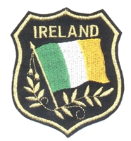 6402 - IRELAND mylar shield embroidered patch for souvenir or uniform