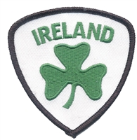 6403 - IRELAND 3 leaf clover shield souvenir embroidered patch