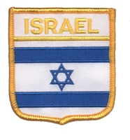 ISRAEL flag medium shield uniform or souvenir embroidered patch