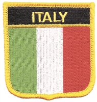 6421 - ITALY medium  flag shield uniform or souvenir embroidered patch