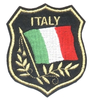 6422 - ITALY mylar flag shield uniform or souvenir embroidered patch