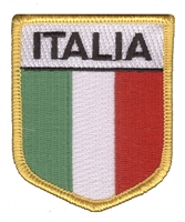 ITALIA (Italy) flag shield uniform or souvenir embroidered patch