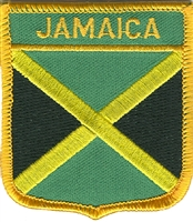 6431 - JAMAICA medium flag shield souvenir embroidered patch