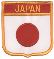 6441 - JAPAN medium flag shield souvenir embroidered patch